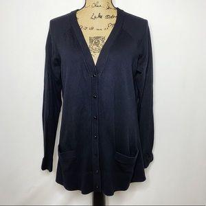 Kate Spade Black Button Up Cardigan Sweater